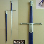 English Two-Handed Sword & Scabbard